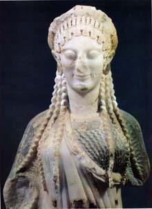 Kore in ionian dress